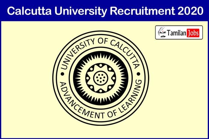 Calcutta University Recruitment 2020