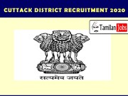 Cuttack District Recruitment 2020