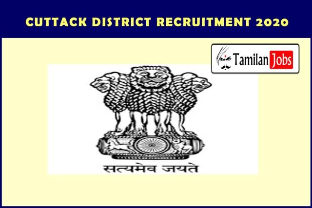 Cuttack District Recruitment 2020