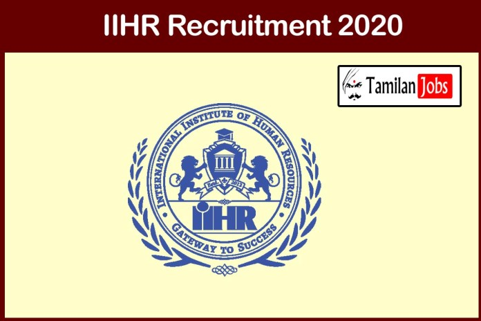 IIHR Bangalore Recruitment 2020 Out – Apply 13 Research Associate Jobs