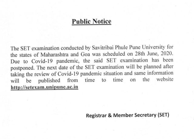 MH-SET Exam Date 2020