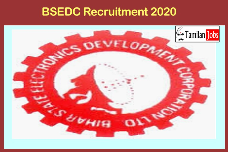 BSEDC Recruitment 2020 Out – Apply For GM Jobs