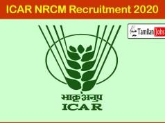 ICAR NRCM Recruitment 2020