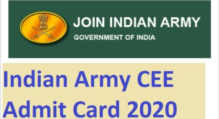 Indian Army CEE Admit Card 2020 | Exam Date OUT @ joinindianarmy.nic.in