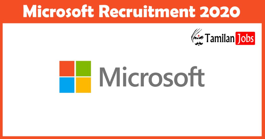 Microsoft Recruitment 2020