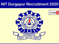 NIT Durgapur Recruitment 2020