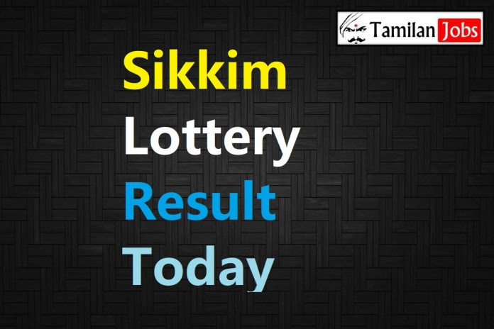 Sikkim State Lottery Result Live Today 16.10.2020, 4 PM, Day, Evening
