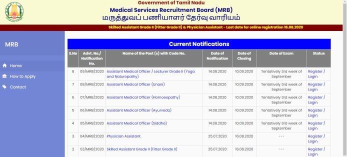 TN MRB Recruitment 2020 Out – Apply Online 66 Assistant Medical Officer Jobs