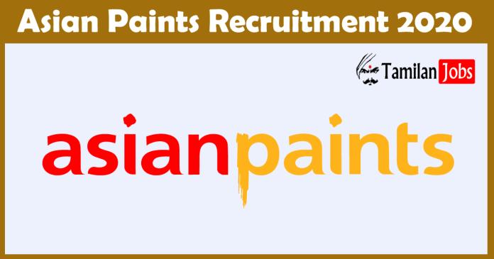asian paints recruitment 2020