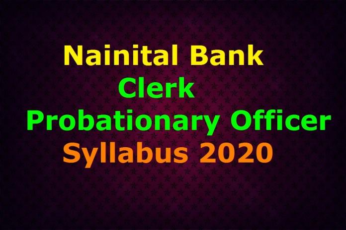 Nainital Bank Syllabus 2020