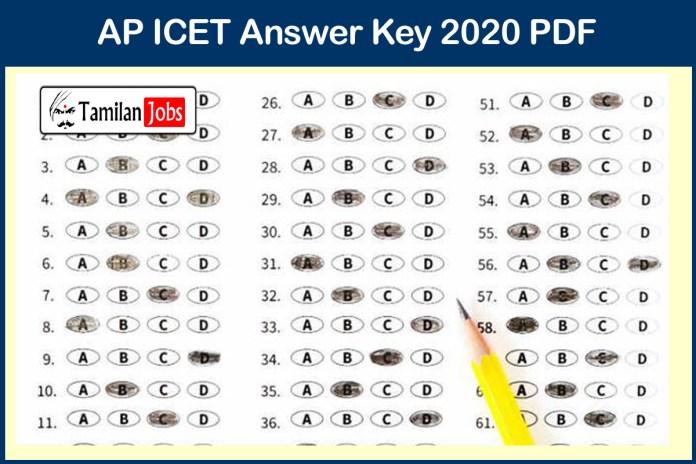 AP ICET Answer Key 2020 PDF