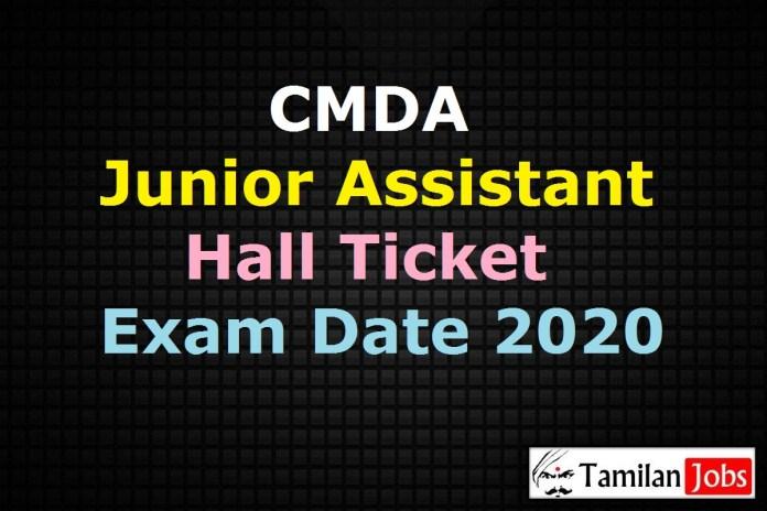 CMDA Junior Assistant Hall Ticket 2020