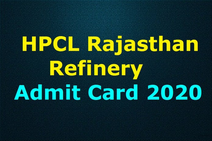 HPCL Rajasthan Refinery Admit Card 2020 Released Soon | Check Exam Date @ hrrl.in