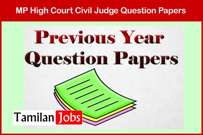 MP High Court Civil Judge Previous Question Papers PDF Download