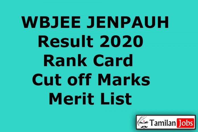 WBJEE JENPAUH Result 2020