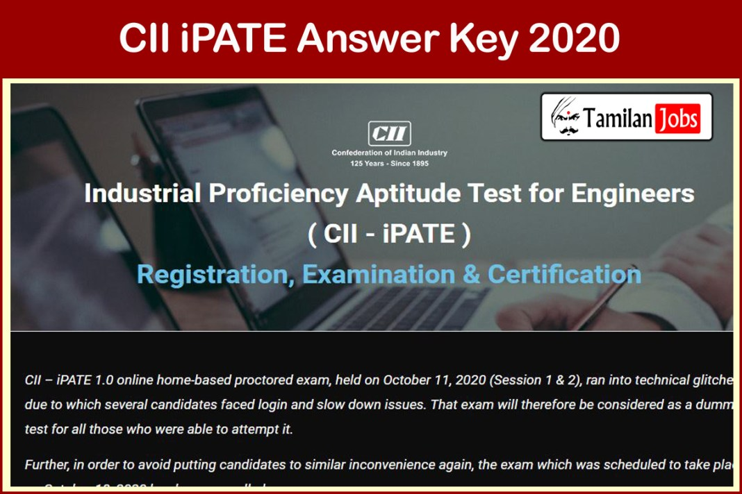 CII iPATE Answer Key 2020