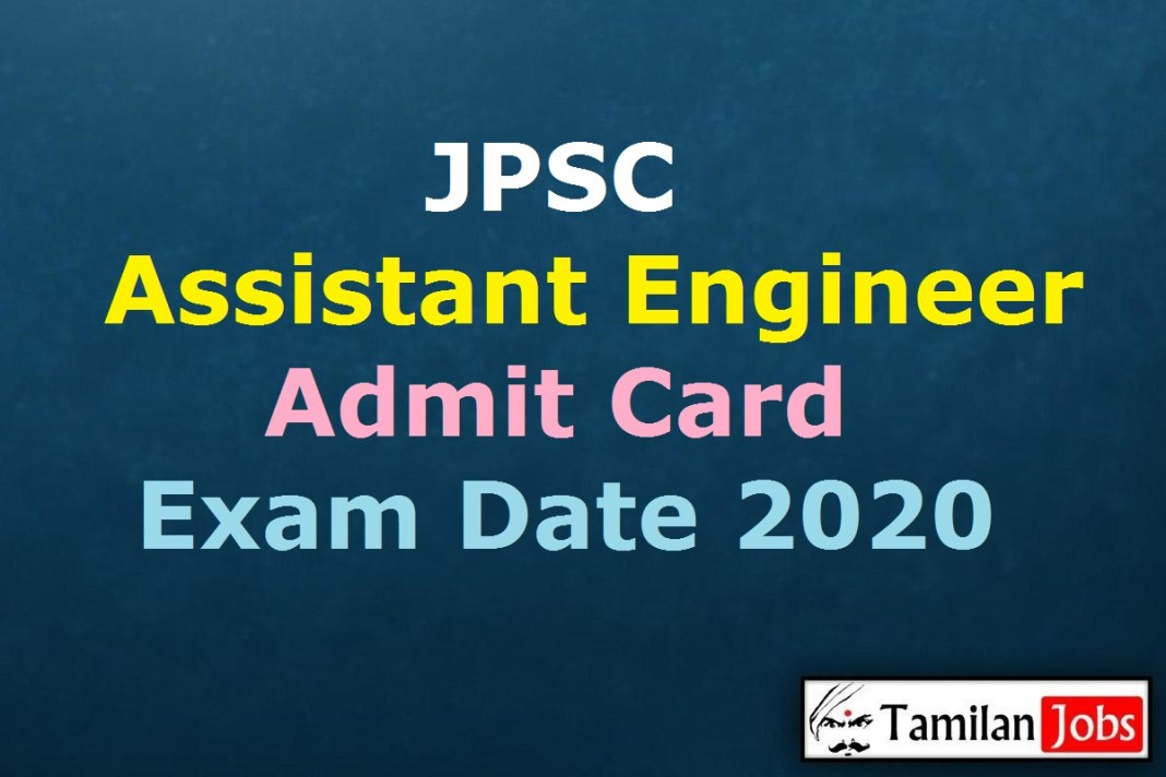 JPSC Assistant Engineer Admit Card 2020