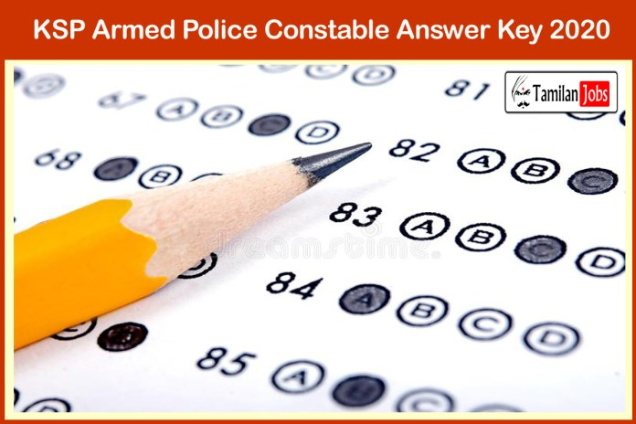 KSP Armed Police Constable Answer Key 2020