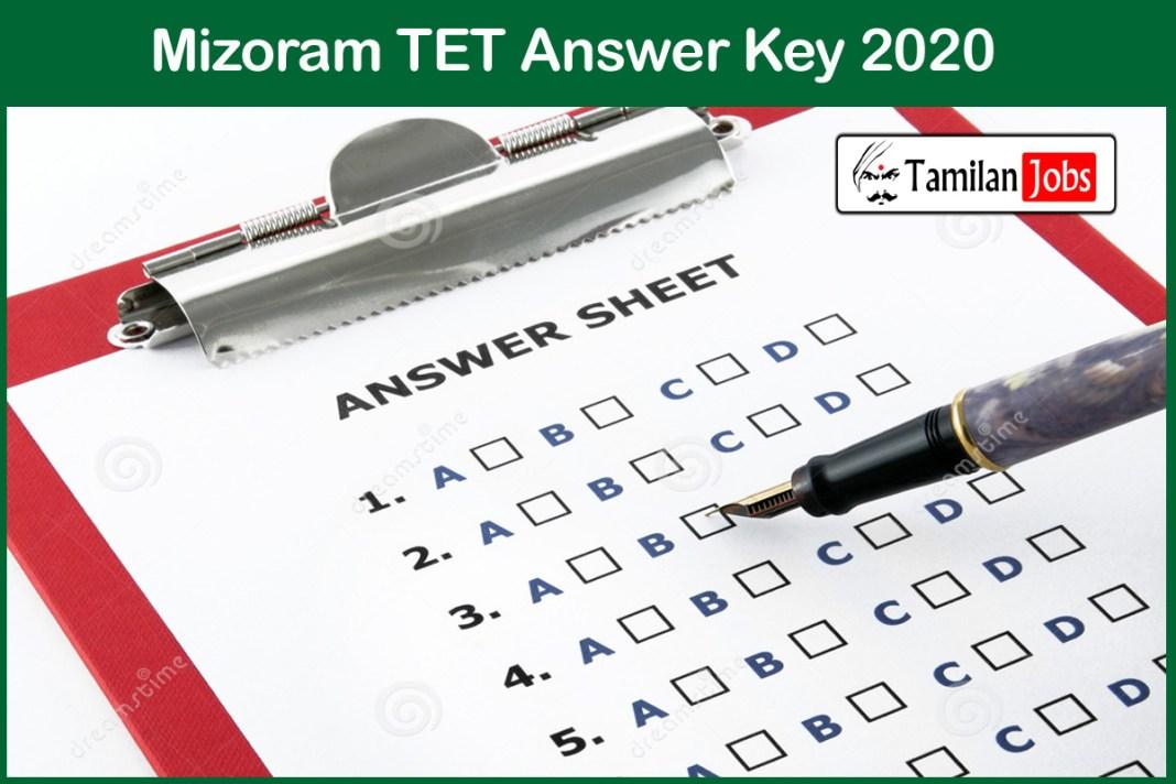 Mizoram TET Answer Key 2020