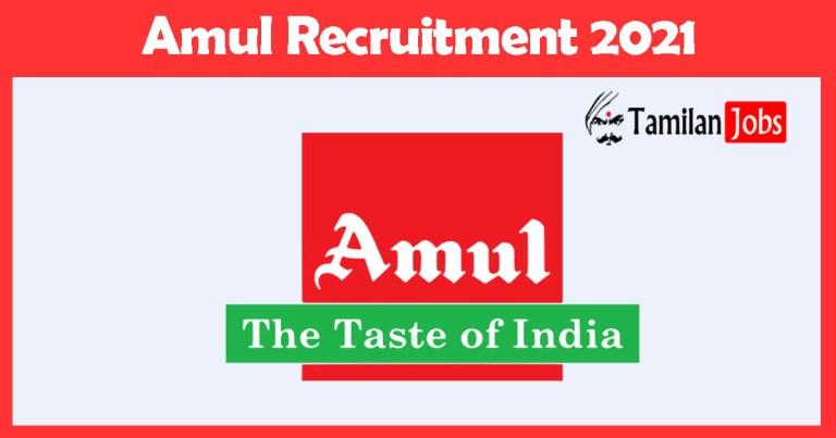 Amul Recruitment 2021 – Apply Online Fresher Job Openings