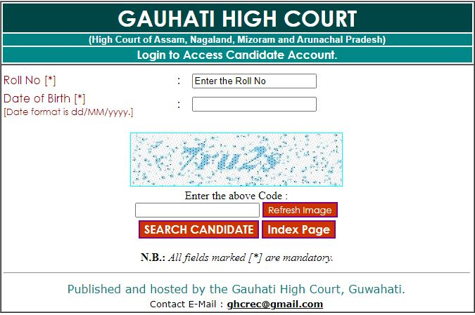 Assam Judicial Service Grade III Admit Card 2020 (OUT), Gauhati High Court Grade 3 Exam Date