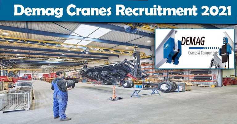 Demag Cranes Recruitment 2021: Fresher & experienced Job Openings