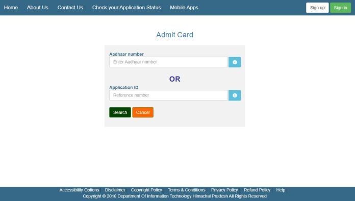HPSSSB JE Admit Card 2020 (OUT), Conductor, Steno-Typist Exam Date