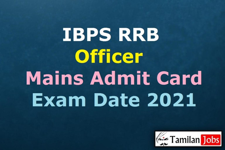 IBPS RRB Officer Mains Admit Card 2021, Office Assistant Exam Date (Out) @ ibps.in