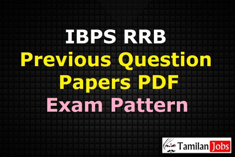 IBPS RRB Previous Question Papers PDF, Office Assistant, Officer Old Papers