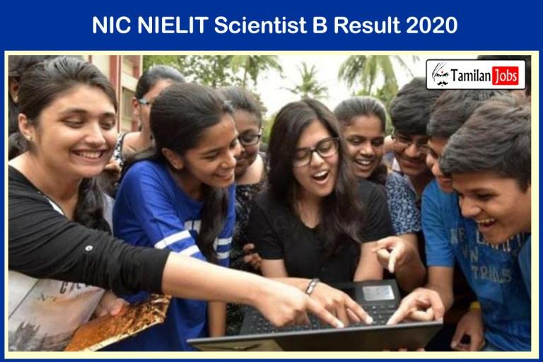 NIC NIELIT Scientist B Result 2020 (Released) | Download @ nielit.gov.in