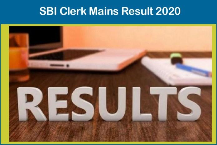 SBI Clerk Mains Result 2020 (Released)   Download Here