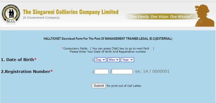 SCCL Management Trainee Admit Card 2020