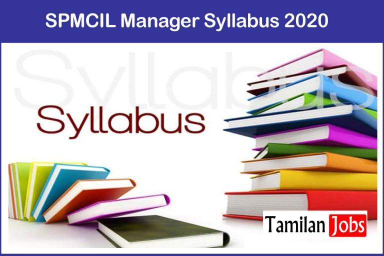 SPMCIL Assistant Manager Syllabus 2020 PDF, Exam Pattern at spmcil.com