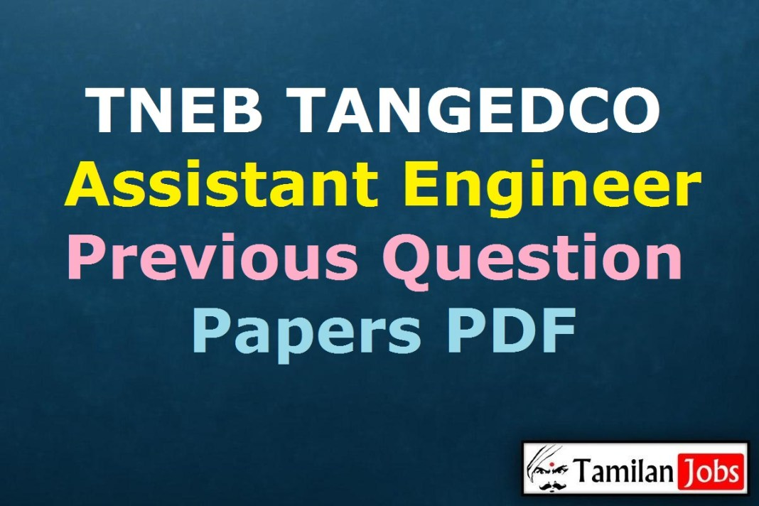 TNEB TANGEDCO AE Previous Question Papers PDF