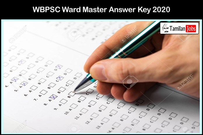 WBPSC Ward Master Answer Key 2020 PDF (OUT) @ pscwbonline.gov.in