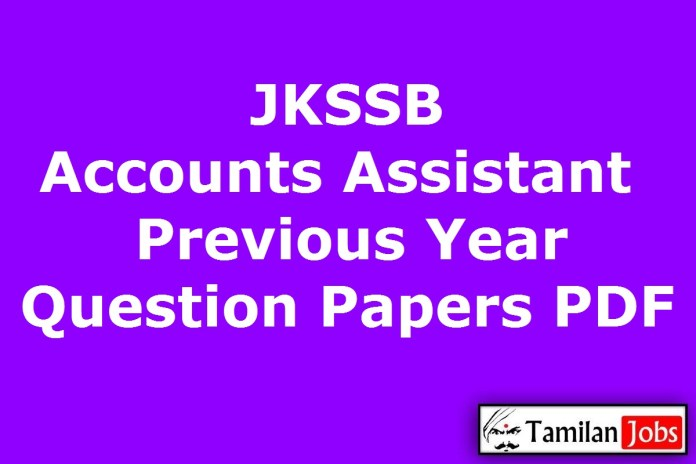 JKSSB Accounts Assistant Previous Year Question Papers PDF