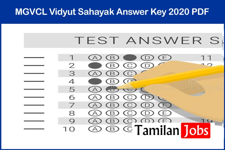 MGVCL Vidyut Sahayak Answer Key 2020 PDF (Released) | Exam Key, Objections
