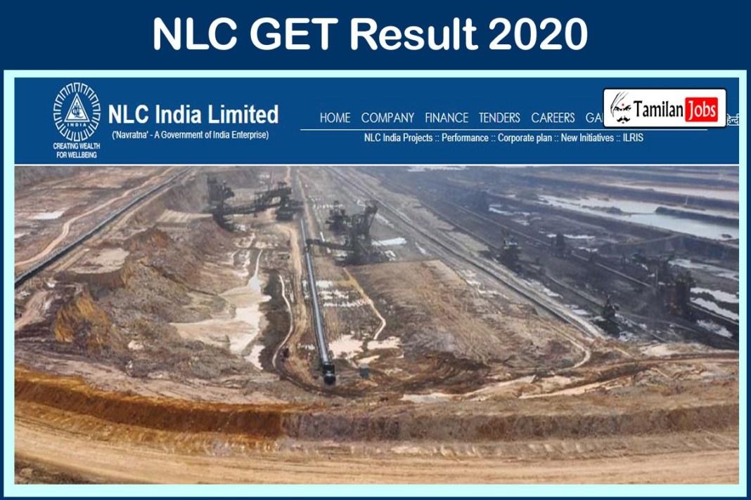 NLC GET Result 2020