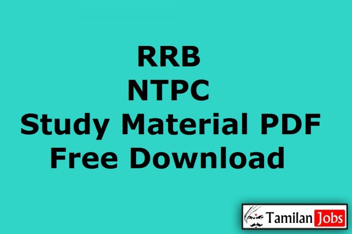 RRB NTPC Study Material PDF Free Download @ rrbcdg.gov.in