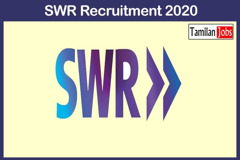 SWR Recruitment 2020 Out – Apply Various Train Halt Jobs