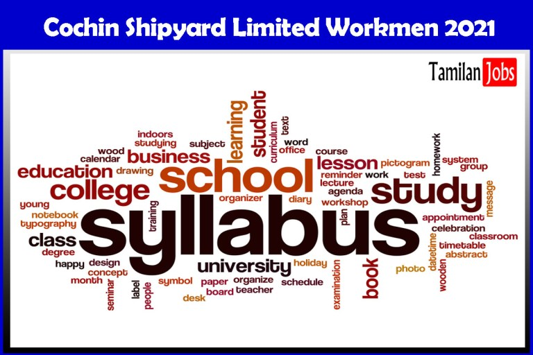 CSL Workmen Syllabus, Exam Pattern PDF Download at www.cochinshipyard.com