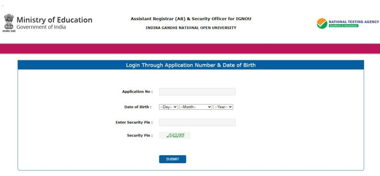 IGNOU Assistant Registrar Admit Card 2021 (OUT), Security Officer Exam Date)