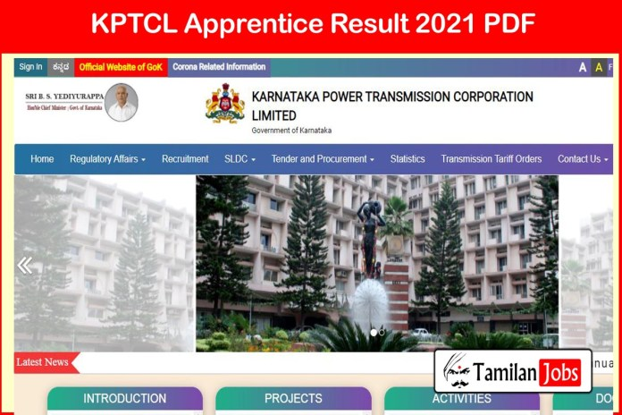KPTCL Apprentice Result 2021 Date (Out) | Merit List on 27th January 2021 at kptcl.com