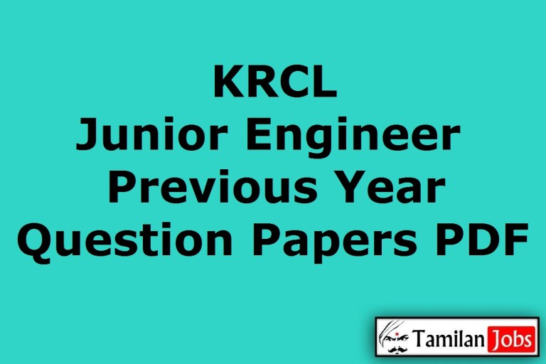 KRCL Junior Engineer Previous Year Question Papers PDF, Konkan Railway JE Old Papers