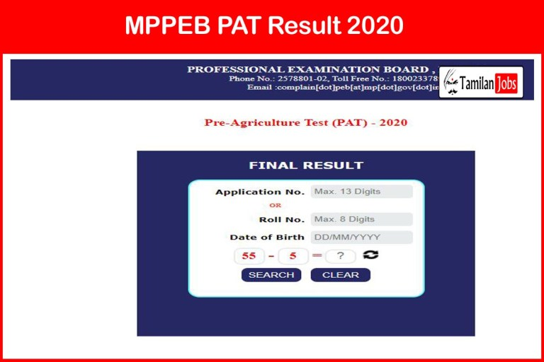 MPPEB PAT Result 2020 Out | Download MP Vyapam Final Selection List @ peb.mp.gov.in