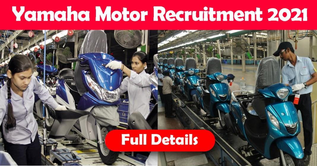 Yamaha Motor Recruitment 2021