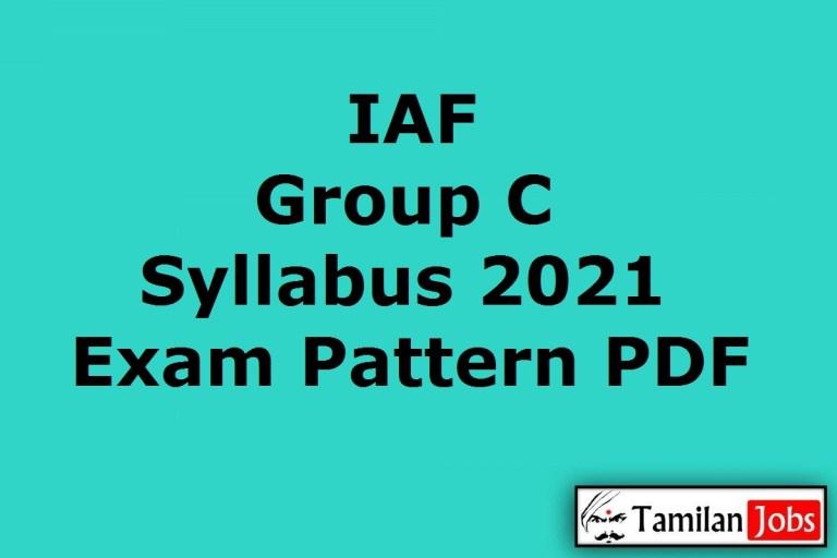 IAF Group C Syllabus 2021 PDF, Indian Air Force MTS Exam Pattern