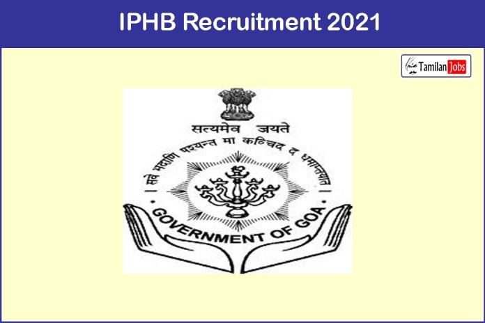 IPHB Recruitment 2021- Apply 100  Staff Nurse, Pharmacist Jobs