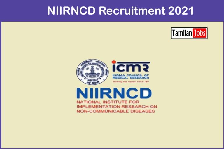 NIIRNCD Recruitment 2021 – Apply 18 Technician Jobs