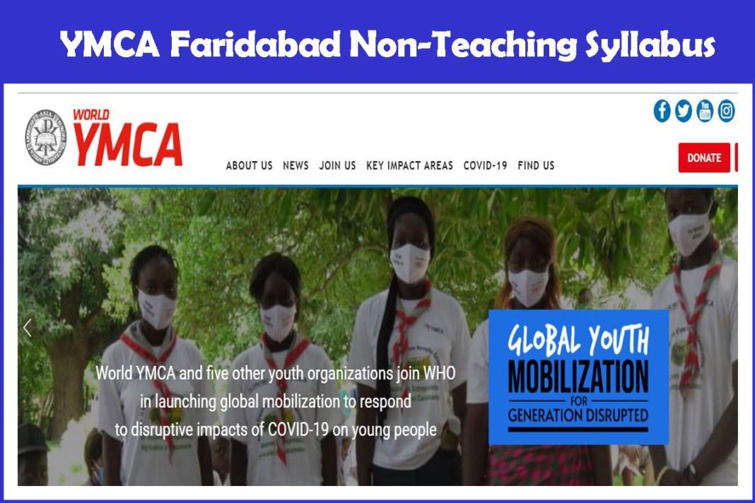 YMCA Faridabad Non-Teaching Syllabus